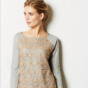 Anthro Dolan lace sweat shirt